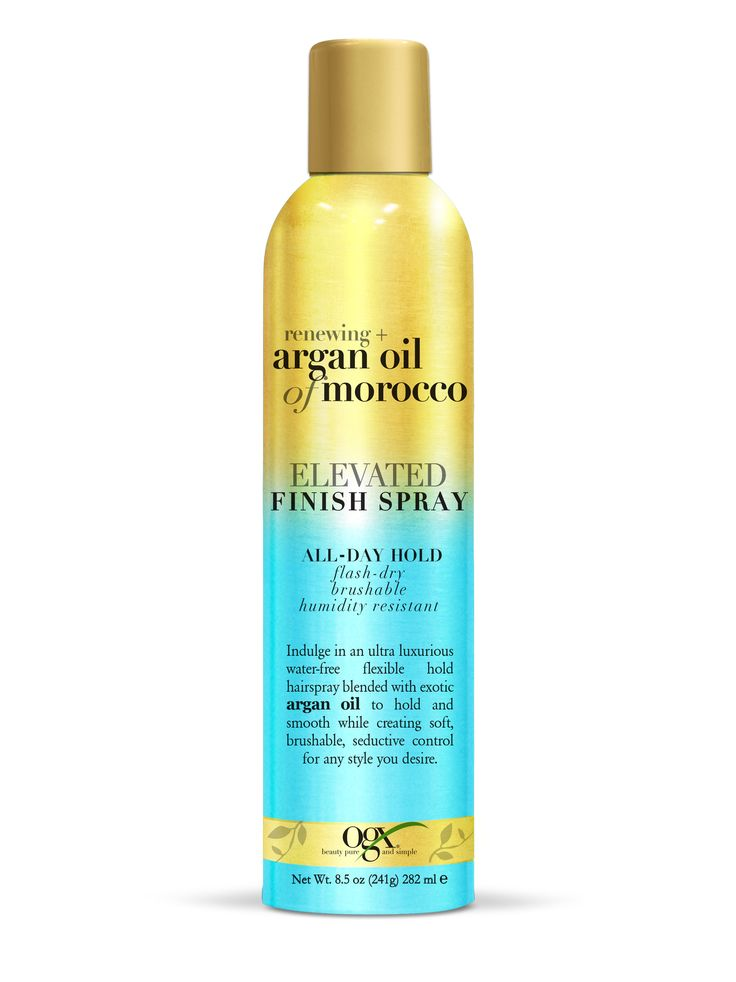 argan oil of morocco elevated finish spray - Brushable soft strong hold hair spray.