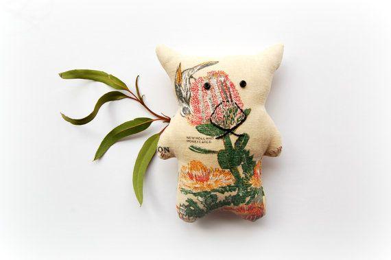 Wombat Softie Wombat Plush Wombat Soft Toy Handmade by WinterOwls
