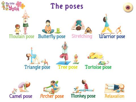 Influential image regarding printable yoga poses for preschoolers