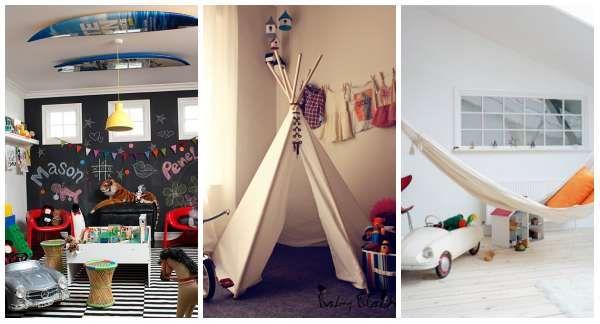 12 Superbes idées pour aménager un coin de jeux pour enfants
