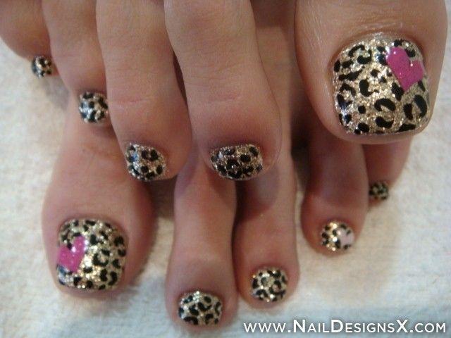 toe animal print nail art | Hair and Beauty Tips and ...