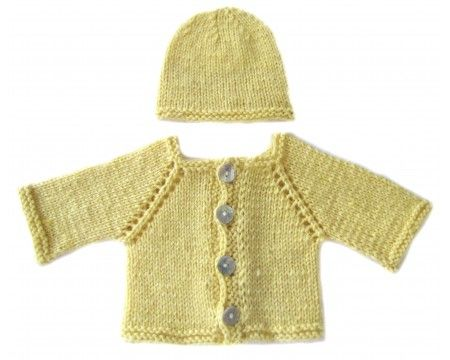 KSS Very Soft Cashmere Cardigan and Hat Newborn - 3 Months