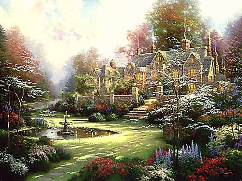 Gardens Beyond Spring Gate my favorite Thomas Kinkade painting.