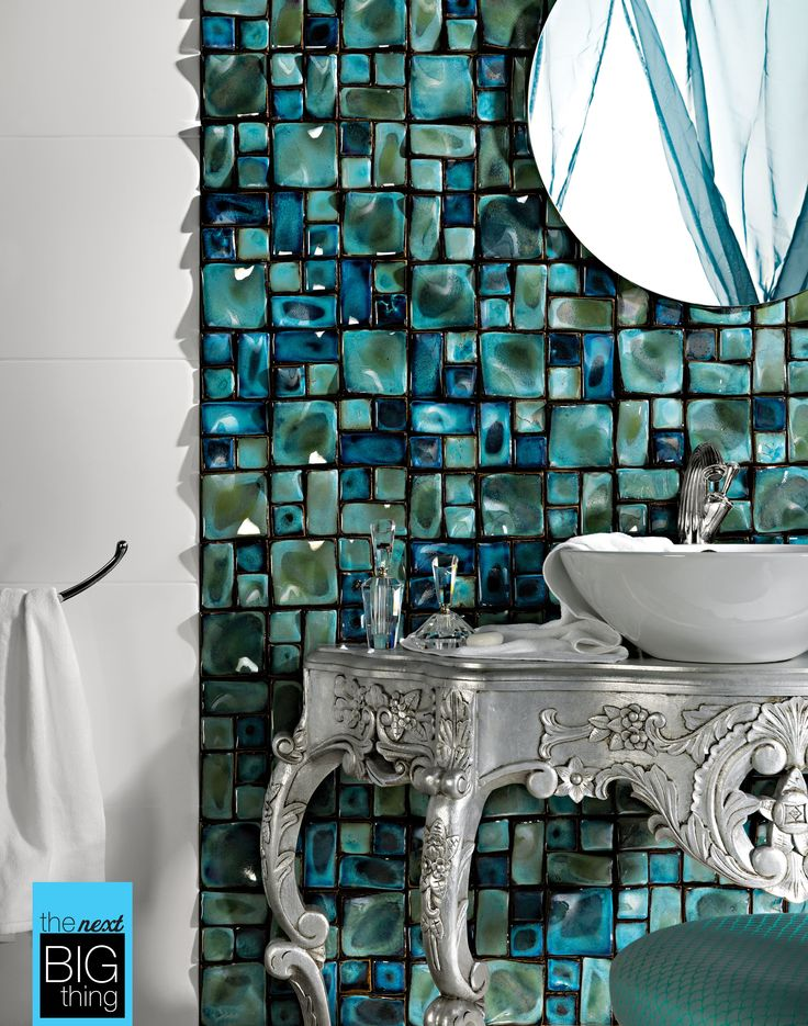 Misled is a beautiful handmade and handpainted three-dimensional structured mosaic tile. It comes in blue, red and sky.  Part of The Next Big Thing Art & Shine trend at Beaumont Tiles.  Show us something arty you love for your chance to win! Details: http://www.beaumont-tiles.com.au/TheNextBigThing.aspx#contest