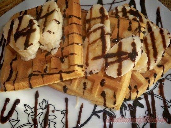Вафли с бананом и шоколадом on http://kulinarniyclub.ru