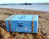 Ring Box Ring pillow alternative Wedding Ring Bearer Box Nautical Beach Wedding Ring Box with Burlap