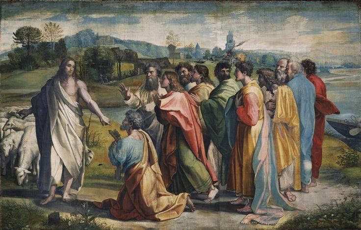 V&A - Raphael, Christ's Charge to Peter (1515) - Raffaello Sanzio - Wikimedia Commons
