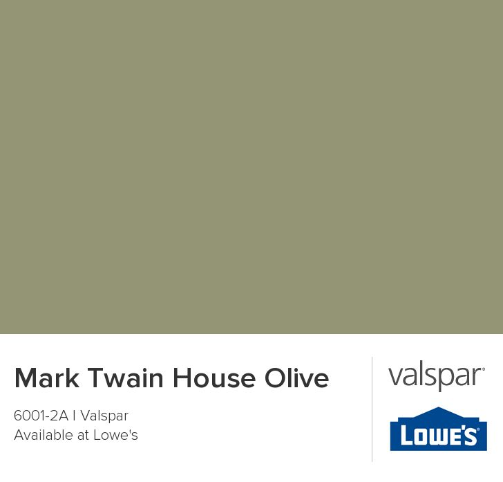 Mark Twain House Olive From Valspar A House Is Not A Home Pinterest