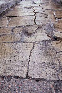 Limestone paver crack repair