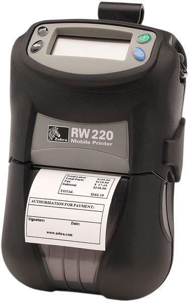 IMPRESSORA ETIQUETAS PORTÁTIL RW220 A RW220 é uma impressora portátil com capacidade para impressão até 56mm de largura,ideal para utilização em qualquer lugar. O seu design permite aos utilizadores escolherem entre as opções sem fio ecartões de leitura. Esta impressora compacta oferece também a conveniência de opções em termos de interfaces e de controlo de actividade em movimento.