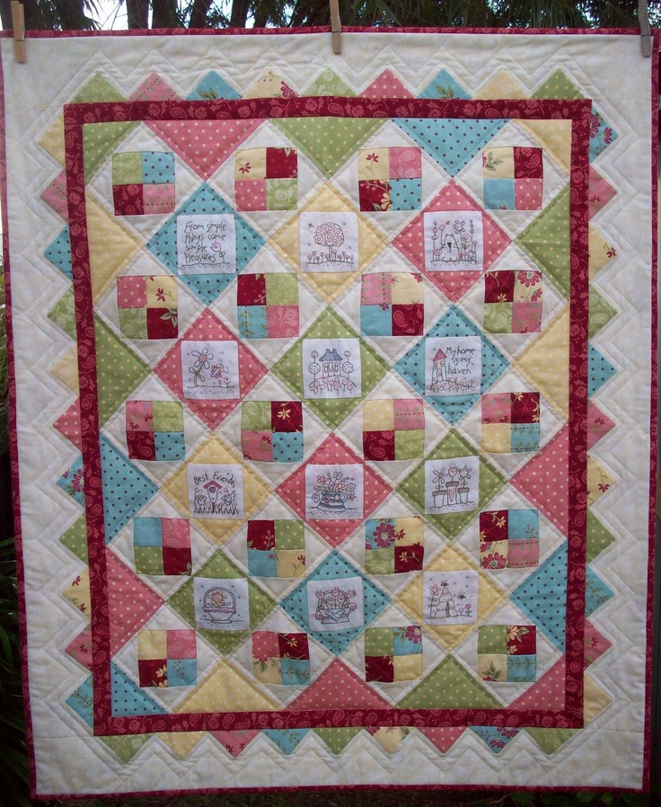 235 best Quilts-border/binding images on Pinterest | Embroidery ... : quilt borders and bindings - Adamdwight.com