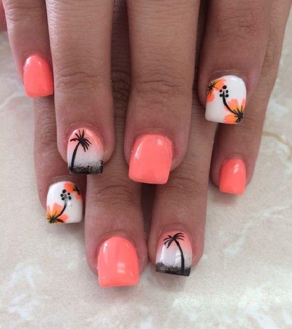 60 Pics Beautiful Hibiscus Nail Art Trends