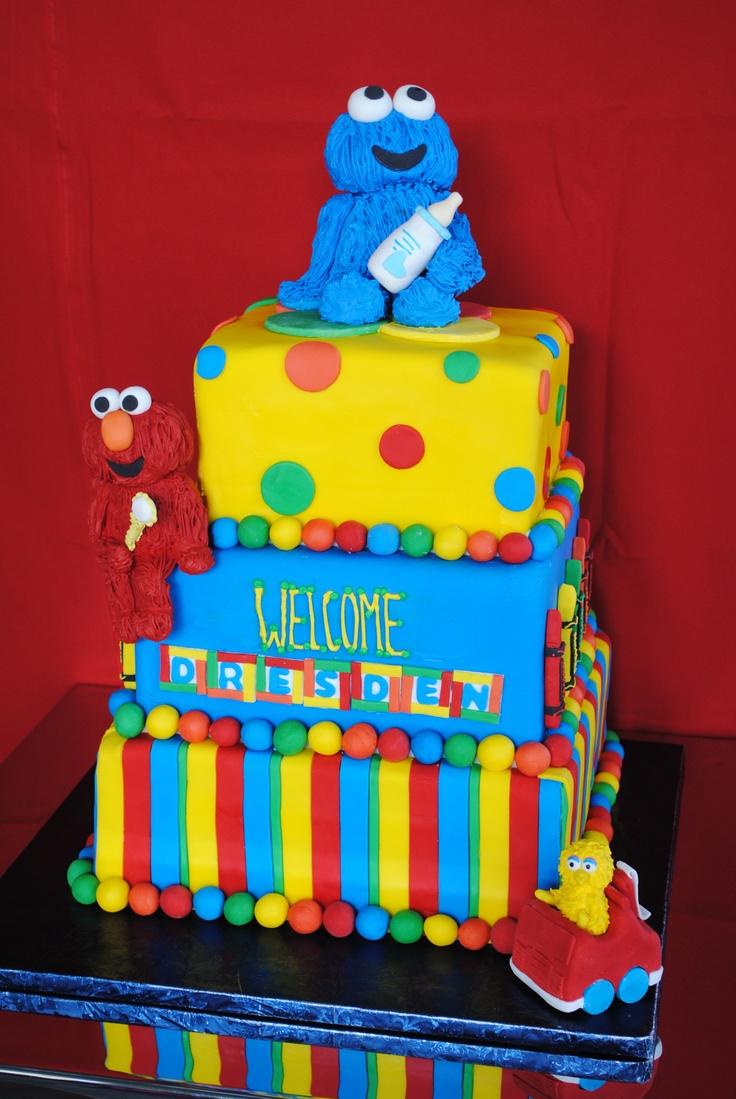 Sesame Street Baby Shower Cake | Sorepointrecords