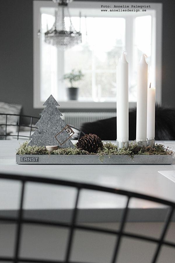 Oohh granar, ernst ljusstake, ernst kirchsteiger, annelies design, interior, inredning, webbutik, kök, köket, advent, julpynt 2015, julsaker, adventsljus, ljus, stearinljus, mossa, nettbutikk