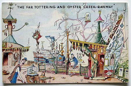The Far Tottering and Oyster Creek Railway - Postcard, Emett Rowland