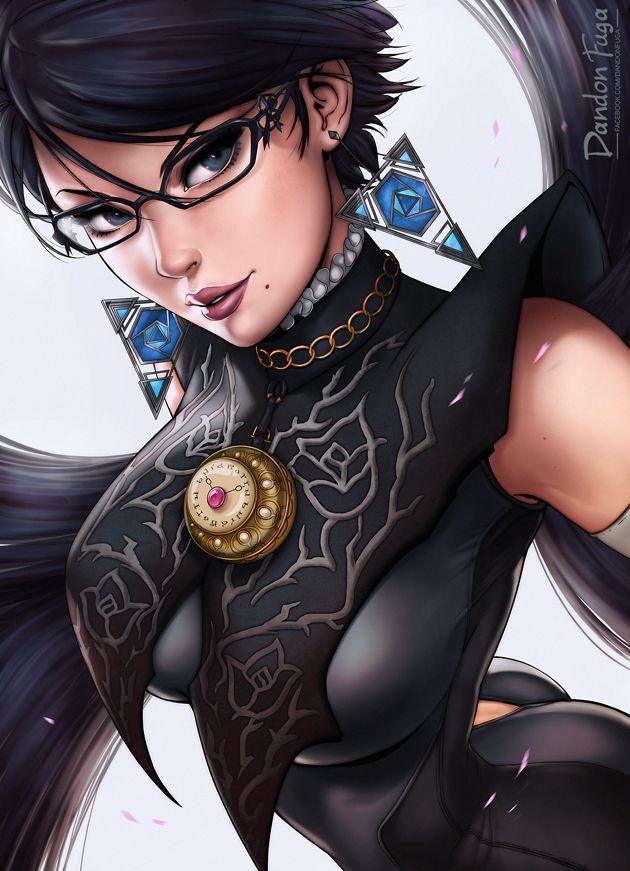 Your halo is mine! by dandonfuga, Bayonetta 2, Digital Painting, Fan Art, Sexy Character Design, Portrait, Nintendo, Inspirational Art
