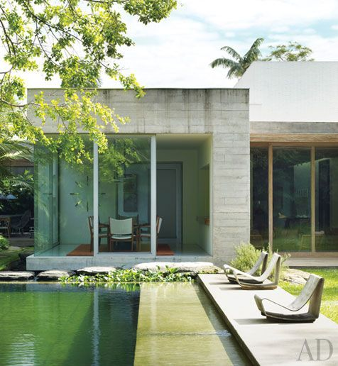 An Isay Weinfeld Designed Brazilian Villa : Architectural Digest, Gorgeous  Pool And Exterior