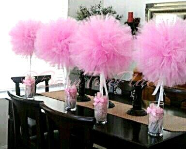"""DIY Tulle Topiary Centerpieces - Create a """"wow factor"""" for your special event, with these darling Tulle Topiary Centerpieces! The perfect decoration statement p..."""
