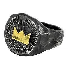 Gold Crown ring in sterling silver and gold - $320 http://www.lordcoconut.com/shop/crown-ring/