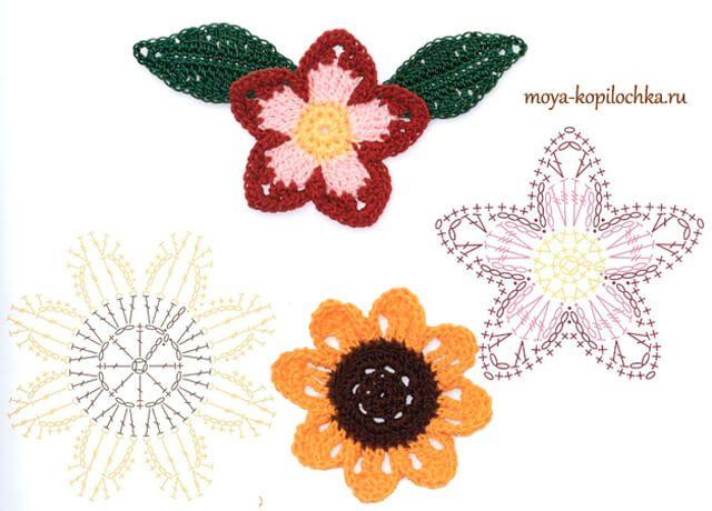 25 Flowers ~ padrões de crochet grátis | todos crochet