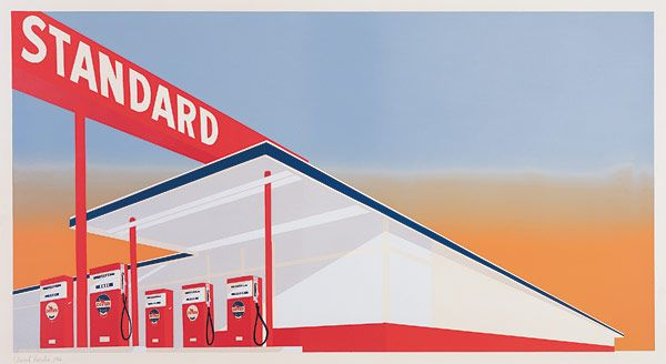 Standard Station, 1966 by Edward Ruscha. Pop Art. landscape