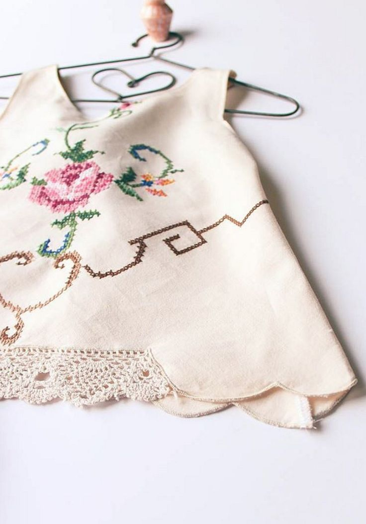Vintage Embroidered Baby Tunic Top | StandardOfGraceShop on Etsy