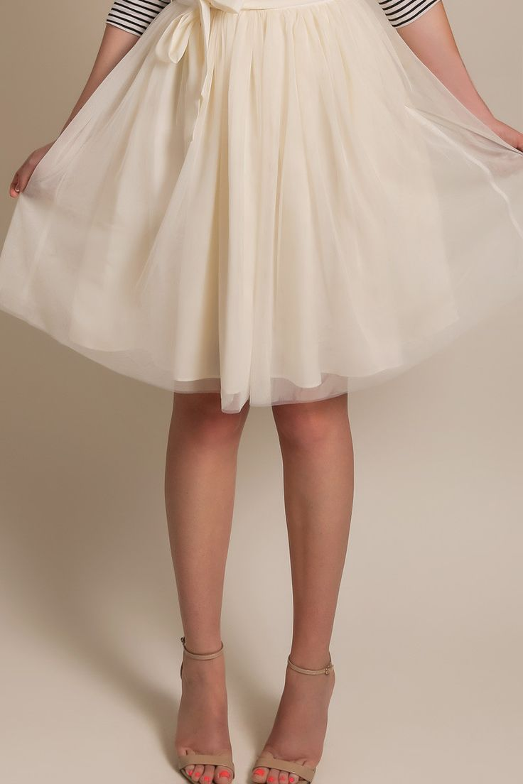 Harper Cream Tulle Skirt – Morning Lavender