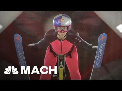 Learning To Fly: Wind Tunnel Training Takes Ski Jumping To New Heights | Mach | NBC News #LearningToFly