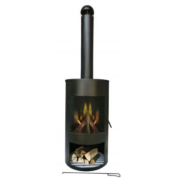 Drumpot firepit € 149,-. Modern vormgegeven terrashaard.