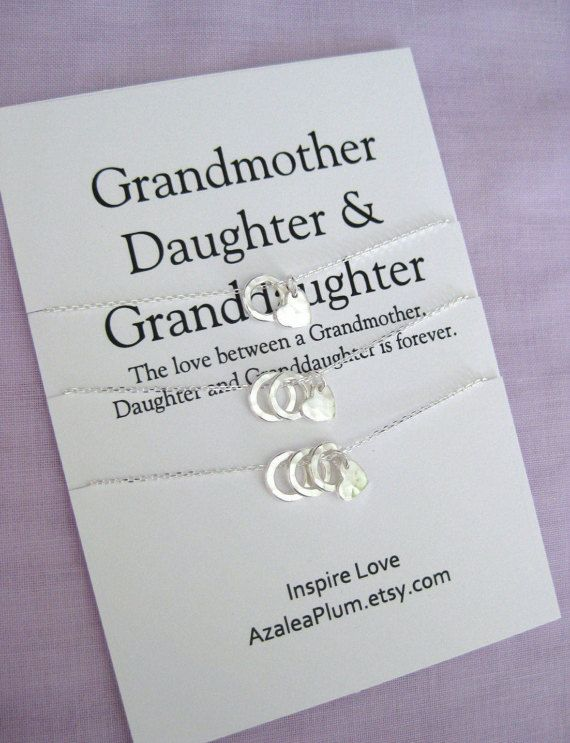 Mother Daughter Grandmother Jewelry Set-60th Birthday Gifts- GENERATION Jewelry-Grandmother Mother Daughter-Grandmother Mother Granddaughter