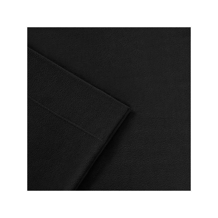 Sleep Philosophy 3M Scotchgard Performance Fleece Sheets, Black Full