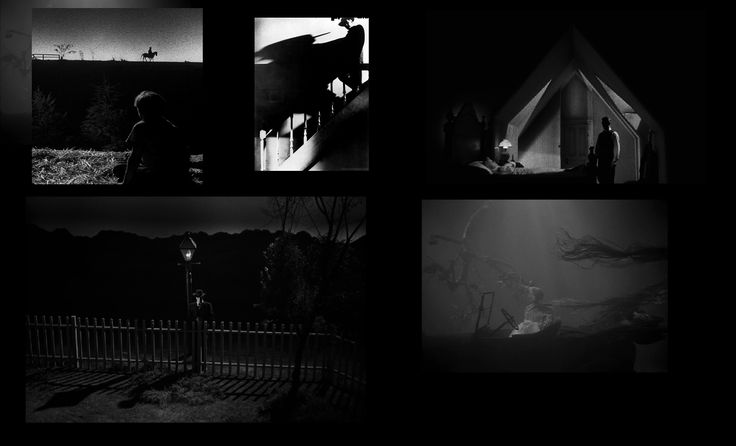 Night of the Hunter- Amazing still frames. tone silhouette . use of light and dark