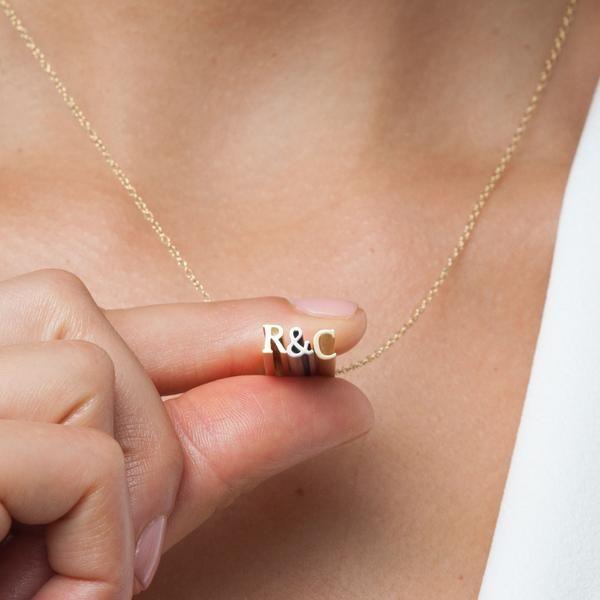Beth Macri Custom Initial Hidden Message Necklace