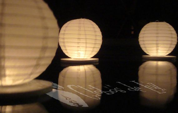 Floating paper lanterns 10 pack by GlobosDeLuz on Etsy, $44.00