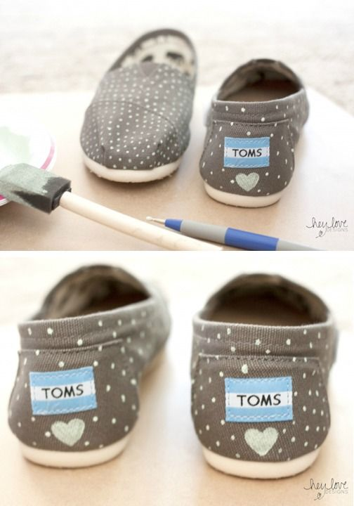 DIY hand-painted TOMS are a great way to stand out from a crowd.