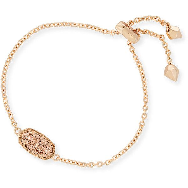 Kendra Scott Elaina Statement Bracelet in Rose Gold Plate ($65) ❤ liked on Polyvore featuring jewelry, bracelets, rose gold, rose gold plated jewelry, 14 karat gold jewelry, statement bangles, kendra scott and 14k jewelry