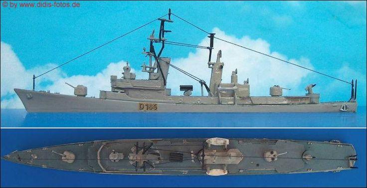 """Zerstörer """"Rommel"""" 1:600 Airfix"""