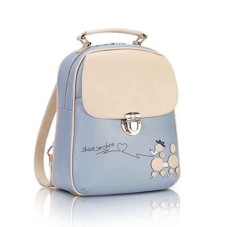 Cute Kawaii PU Leather Backpack