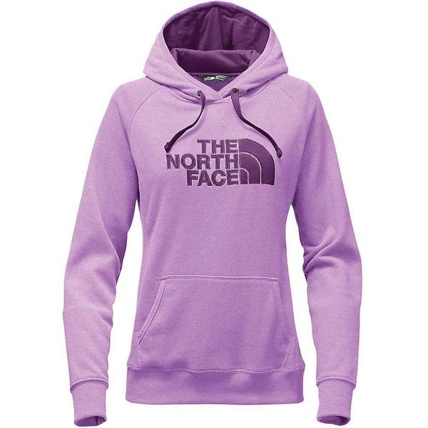 The North Face Women's Avalon Pullover Hoodie ($55) ❤ liked on Polyvore featuring tops, hoodies, purple pullover hoodie, raglan hoodie, embroidered top, the north face hoodie and pullover hoodies