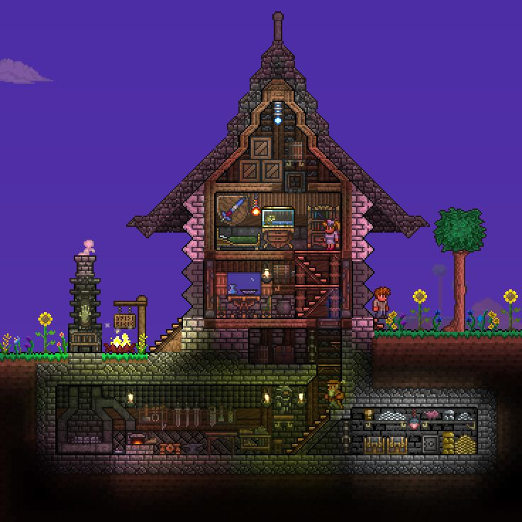 Pc Ballin Houses By Eiv: 33 Best Images About Terraria On Pinterest