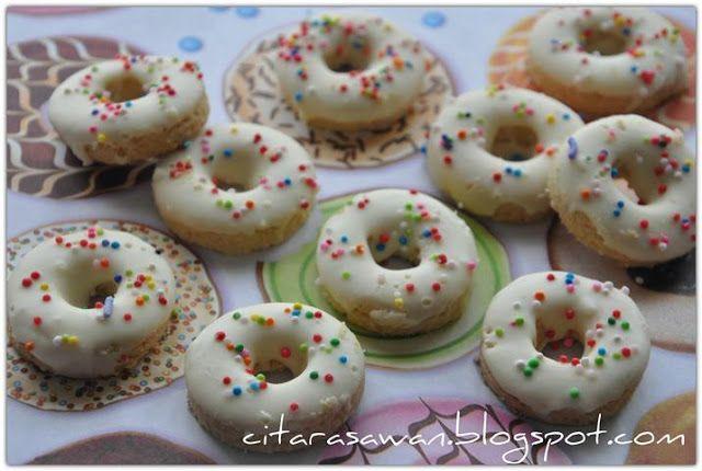 Resipi Citarasawan | Koleksi Resepi Kakwan Biskut Donut / Snow White Cookies