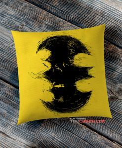 Batman Logo Black Yellow pillow case, Custom Pillow case, Square Rectangle pillows case