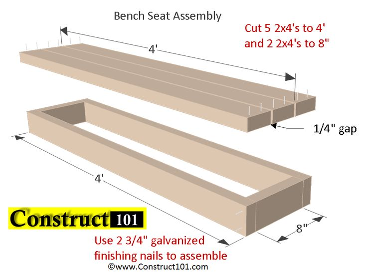 Planter Bench Plans Built With 2X4 S Free Pdf Bench 400 x 300