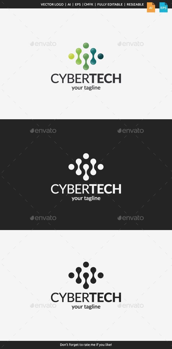 Cyber Tech Logo Tempalte #design #logotype Download: http://graphicriver.net/item/cyber-tech-logo-template/11129826?ref=ksioks