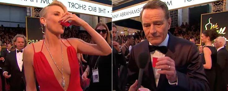 Las estrellas de los Oscar beben chupitos de tequila en la alfombra roja gracias a Jimmy Kimmel - Noticias de cine - SensaCine.com