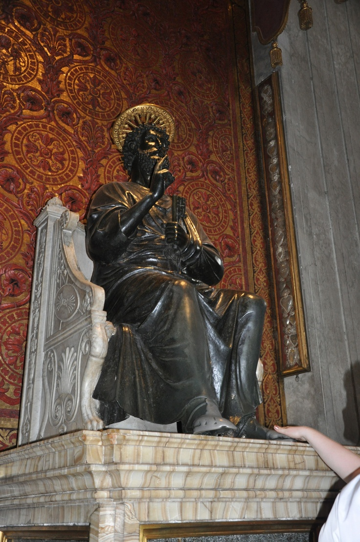 The Foot Of The Bronze Statue Of St Peter Is Worn To A