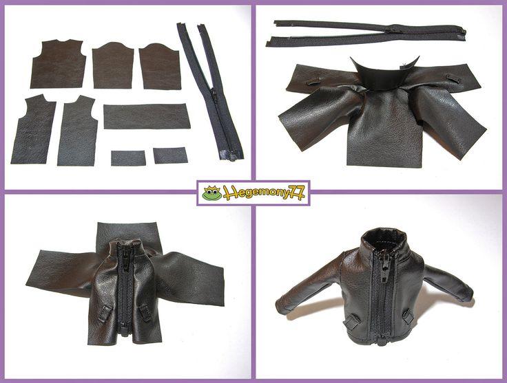 How I make Blythe doll leather jacket | Flickr - Photo Sharing!