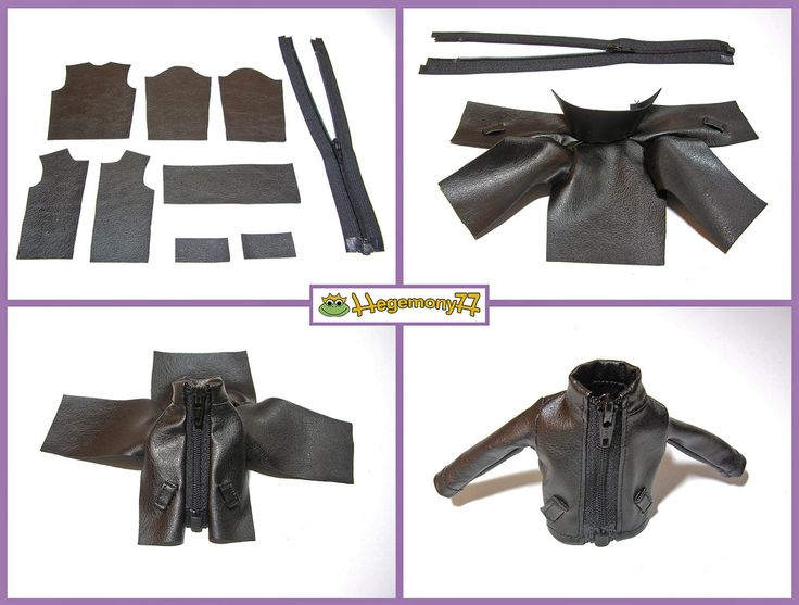 How I make Blythe doll leather jacket | Flickr - Photo Sharing!
