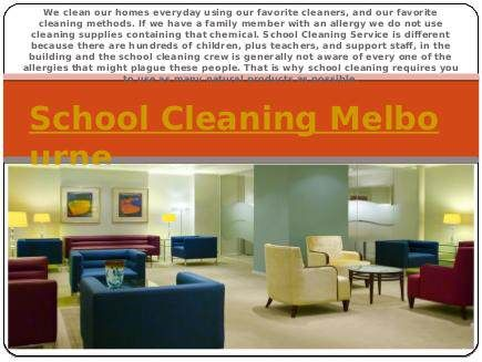 """""""School Cleaning Melbourne"""" published by @Vacate_Cleaning on @edocr"""