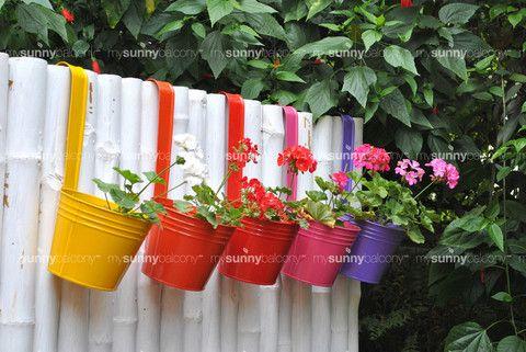 Metal Bucket Pot with handle – The mysunnybalcony e-store